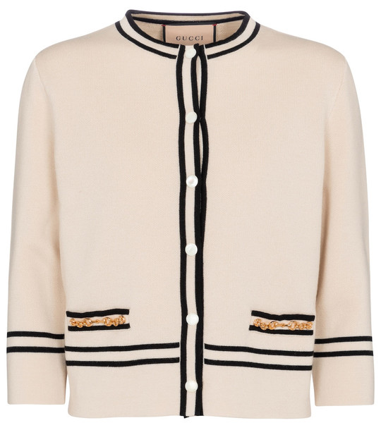 Gucci Wool cardigan in white