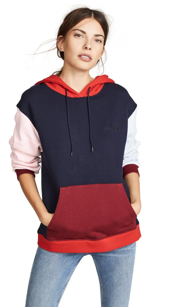 Etre Cecile Colorblock Aurelia Hoodie in navy / pink / red