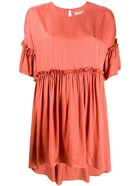 Jovonna Rendaze ruffle-trimmed dress in orange