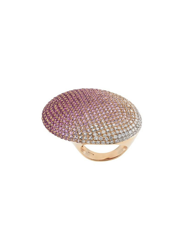 Gavello 18kt rose gold, sapphire and diamond cocktail ring in pink