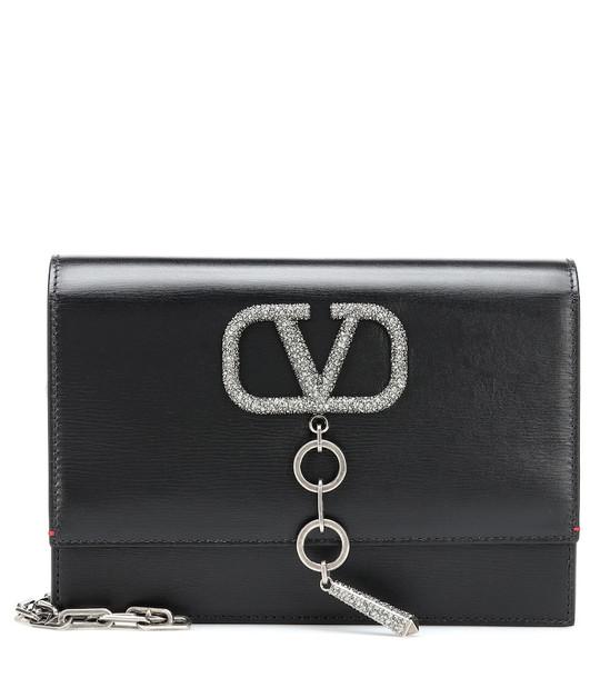 Valentino Garavani VCASE Small leather shoulder bag in black