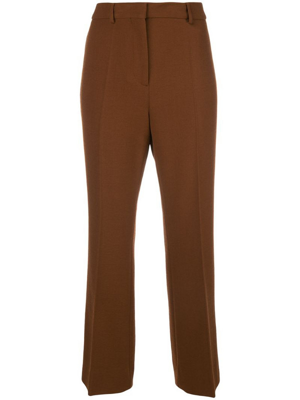 Rochas straight-fit trousers in brown