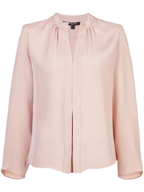 Derek Lam Kara long sleeved blouse in neutrals