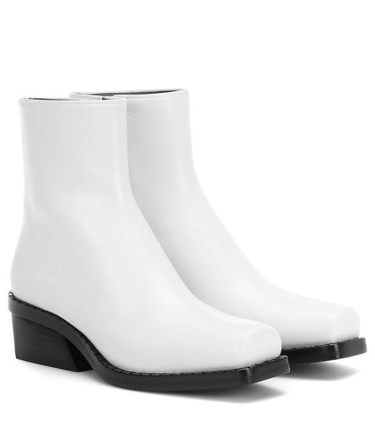 Proenza Schouler Leather ankle boots in white