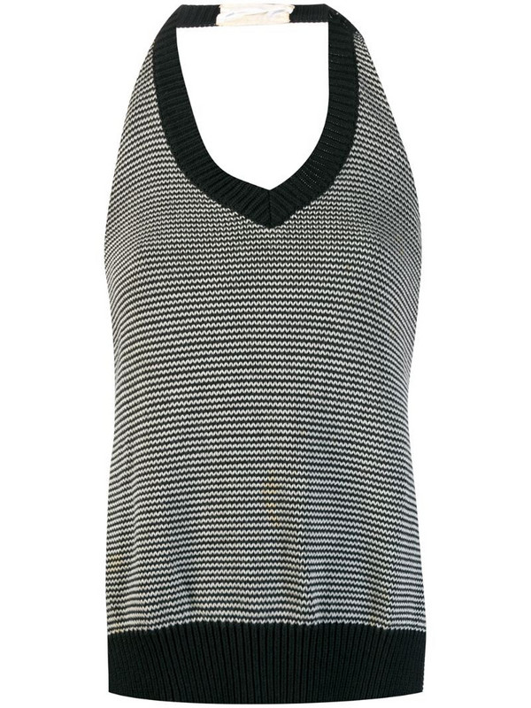 Maison Martin Margiela Pre-Owned backless knitted top in black
