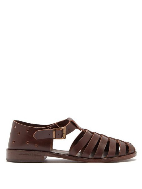 Preen By Thornton Bregazzi - Indria Perforated Leather Sandals - Womens - Tan