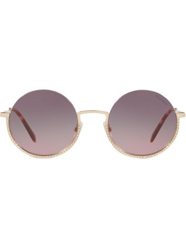 Miu Miu Eyewear Société sunglasses in gold