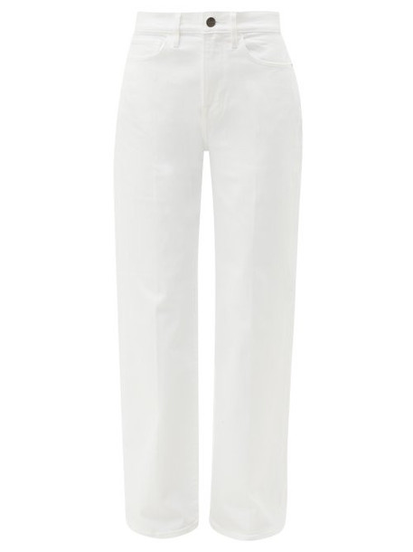 Frame - Le California Stretch Cotton Wide Leg Jeans - Womens - White