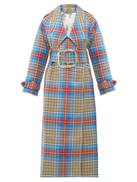 Charles Jeffrey Loverboy - Tartan Wool Twill Trench Coat - Womens - Beige Multi
