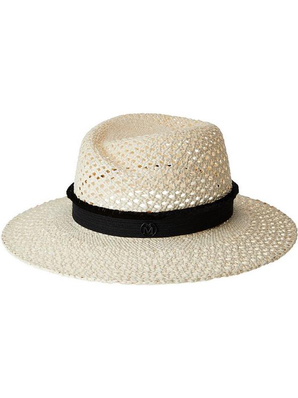 Maison Michel Virginie woven straw hat in neutrals