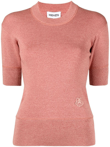 Kenzo Tiger Crest knitted top in pink