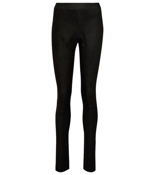 Ann Demeulemeester Elein suede leggings in black