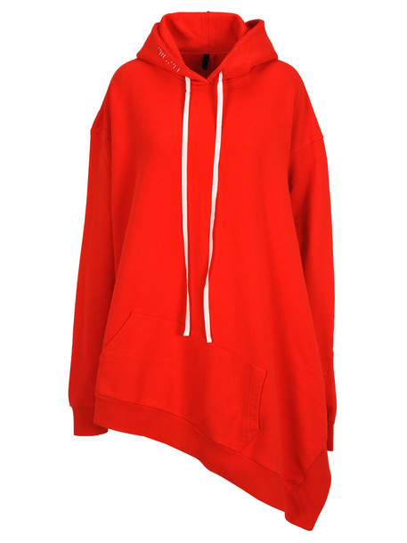 Ben Taverniti Unravel Project Unravel Unravel Project Terry Asymmetric Hoodie in red