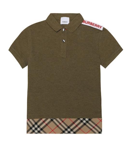 Burberry Kids Cotton shirt in green