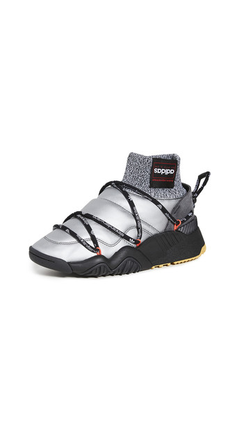 adidas Originals by Alexander Wang Aw Puff Trainers in black / silver