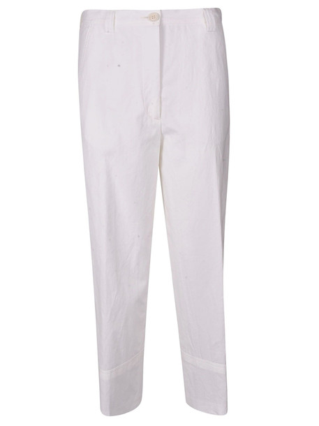 Dries Van Noten Cropped Trousers in white