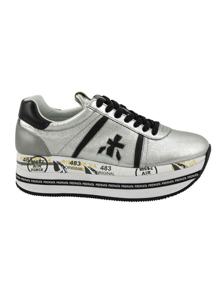 Premiata Beth Platform Sneakers in silver