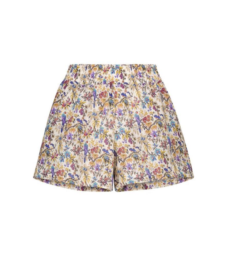 ETRO Floral ramie shorts in beige