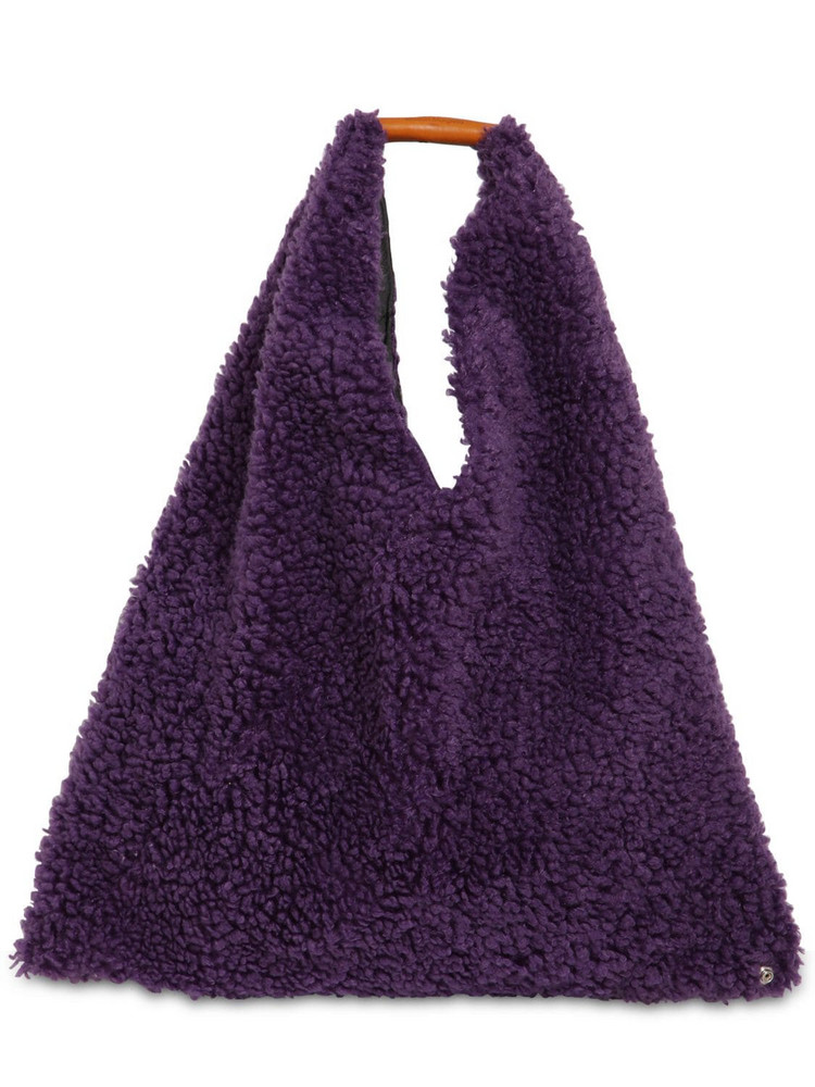 MM6 MAISON MARGIELA Japanese Medium Faux Fur Bag in purple