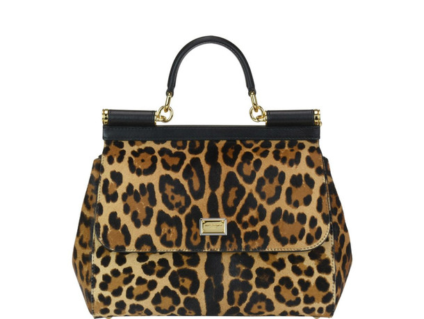 Dolce & Gabbana Sicily Medium Bag in leopard
