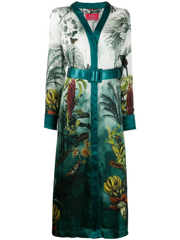 F.R.S For Restless Sleepers botanical print dress in green