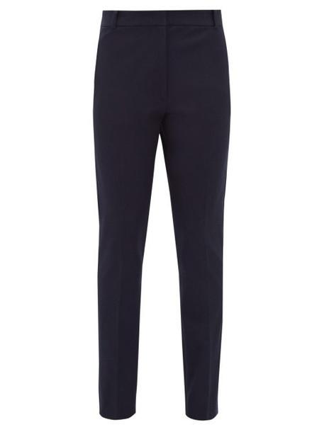Joseph - Zoom Stretch Twill Slim Leg Trousers - Womens - Navy