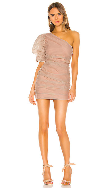 NBD Mariska Mini Dress in Beige