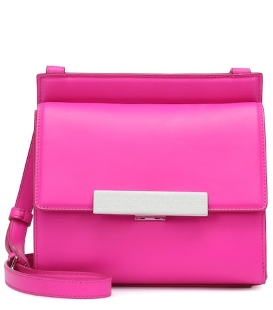 Calvin Klein 205W39NYC Leather shoulder bag in pink