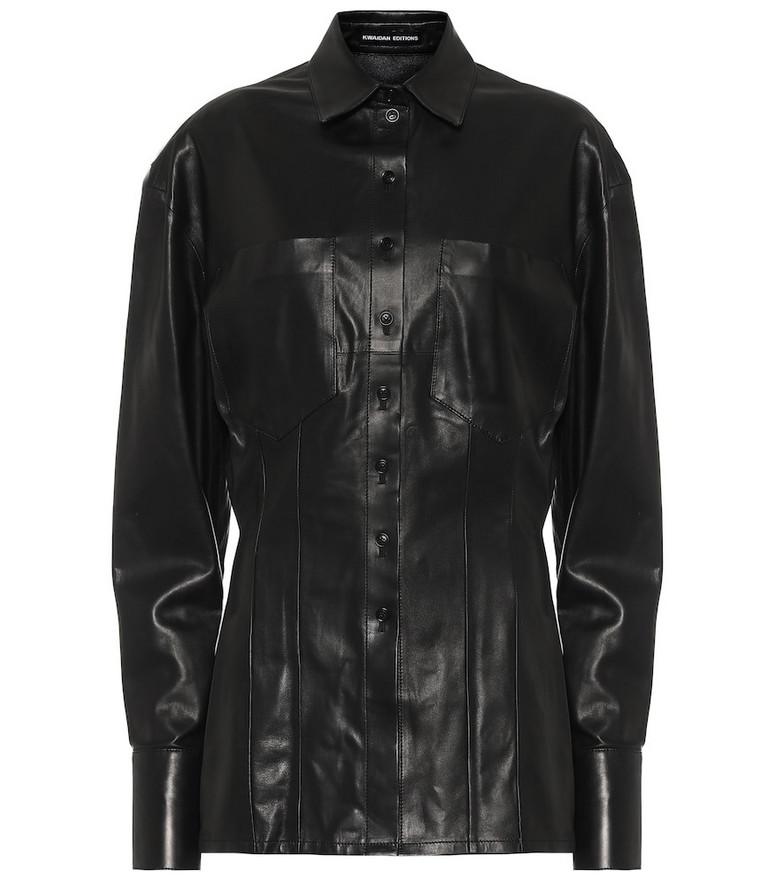 Kwaidan Editions Leather shirt in black