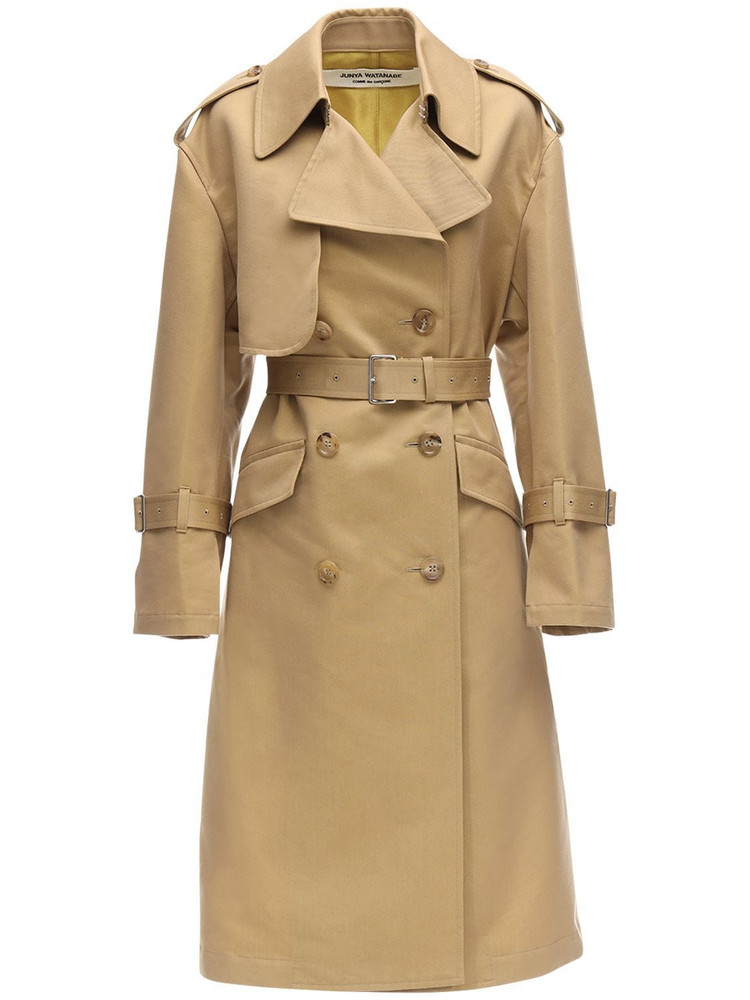 JUNYA WATANABE Cotton Twill Trench Coat in beige