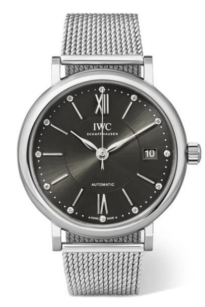 IWC SCHAFFHAUSEN - Portofino Automatic 37mm Stainless Steel And Diamond Watch - Silver