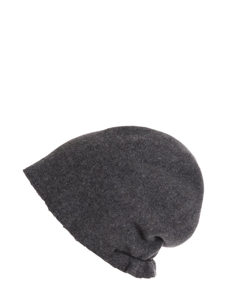 SCHA Taiga Long Wool Beanie Hat in grey