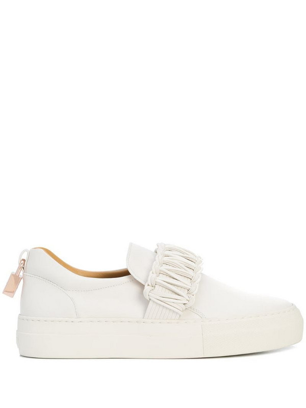 Buscemi braided-detail slip-on sneakers in white