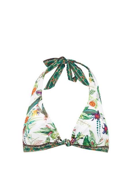 Camilla - Daintree Darling Halterneck Bikini Top - Womens - White Print