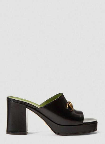 Gucci Mid-Heel Platform Sandals in Black size EU - 39