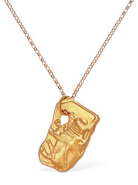 ALIGHIERI Ox Zodiac Charm Chain Necklace in gold