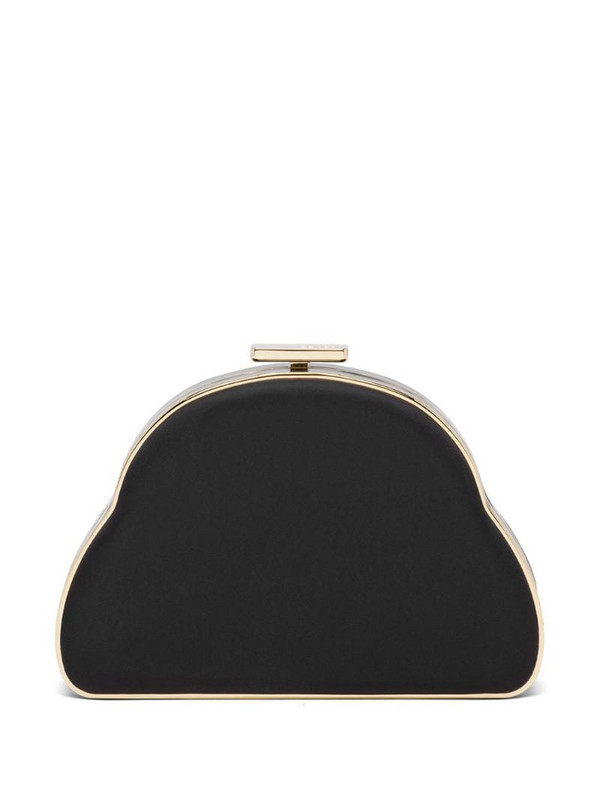 Prada padded cloud clutch in black