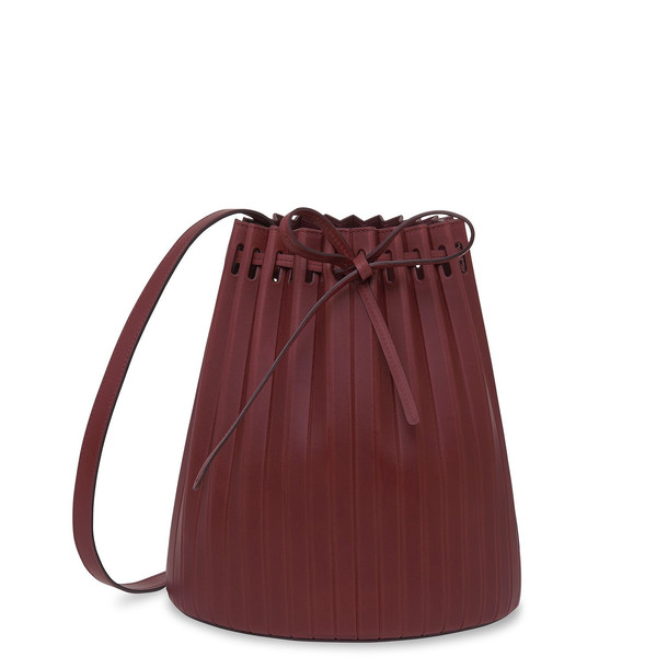 Mansur Gavriel Bordo Pleated Bucket Bag (Re20) - Bordo