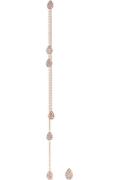 Diane Kordas - 18-karat Rose Gold Diamond Earrings