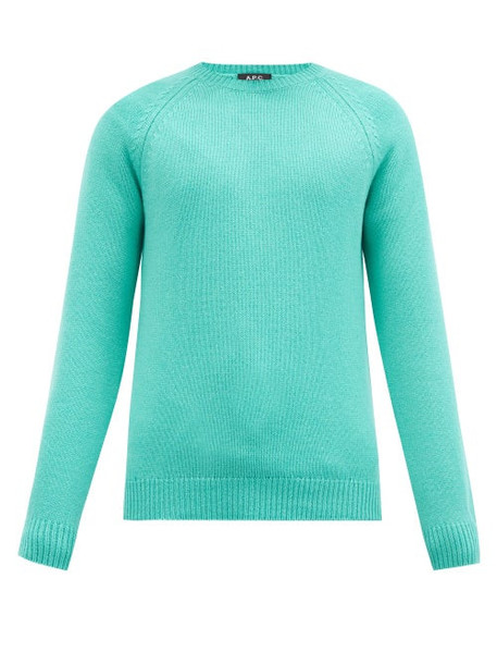 A.P.C. A.P.C. - Pablo Wool Sweater - Mens - Light Green