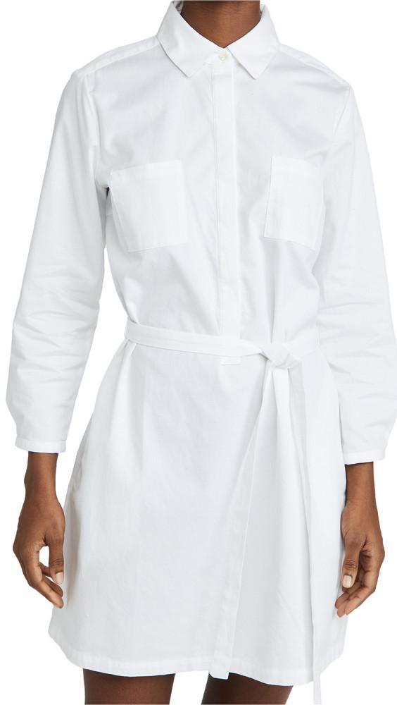 Birds of Paradis Meghan Henley Dress in white