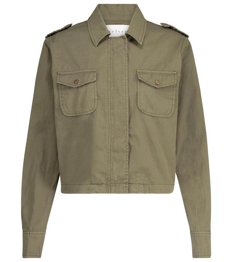 Velvet Dixie cotton jacket in green