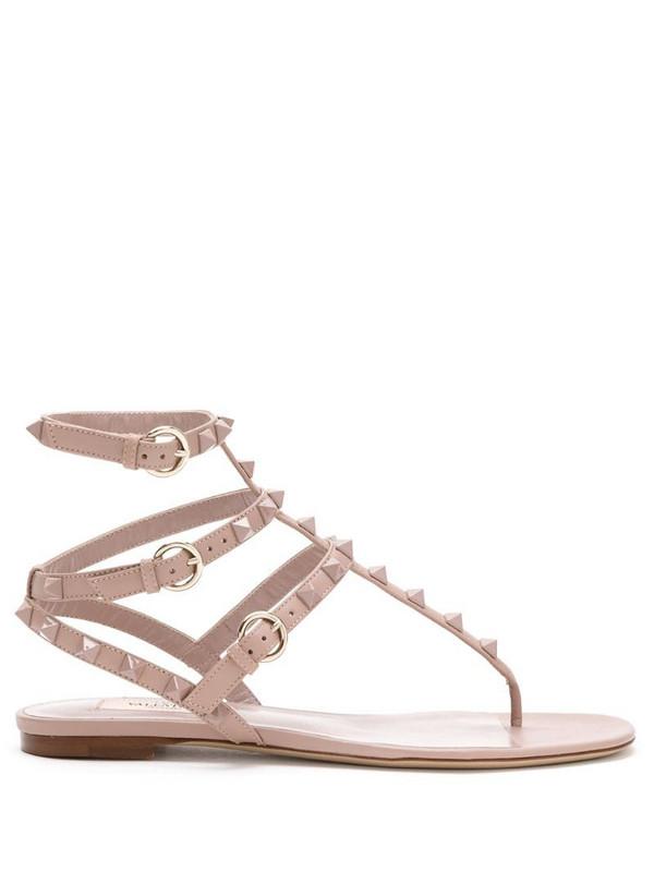 Valentino Garavani Rockstud sandals in neutrals