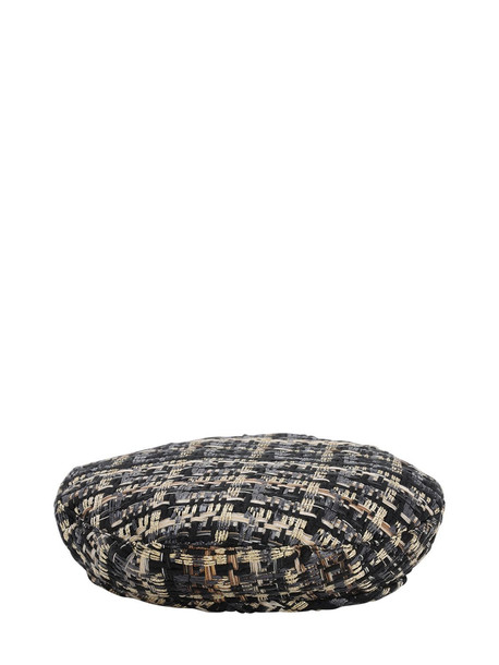 EUGENIA KIM Cher Cotton Blend Tweed Beret in gold / multi