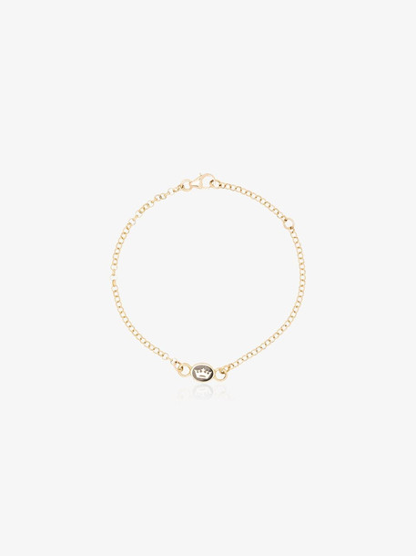 Foundrae 18K yellow gold crown pendant bracelet