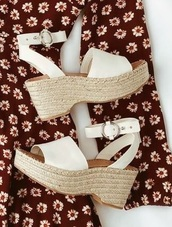 shoes,wedges,white