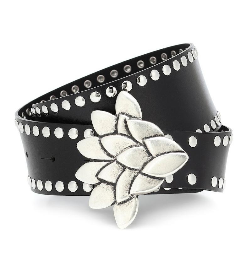 Isabel Marant Lowi studded leather belt in black