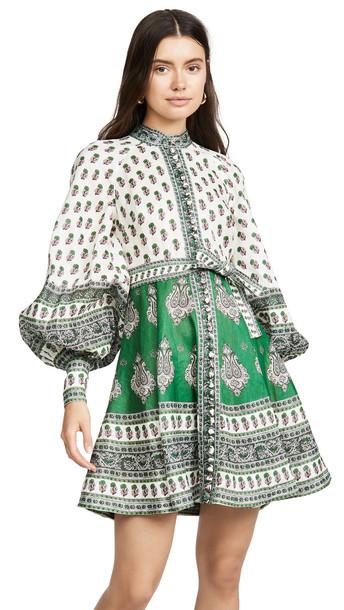 Zimmermann Amari Emerald Buttoned Dress