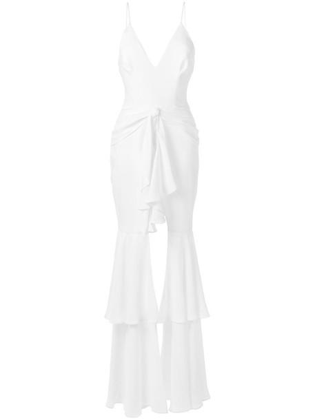 PatBO ruffled maxi dress