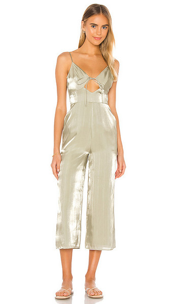 Song of Style Carter Jumpsuit in Sage in green